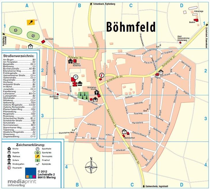 Ortsplan Böhmfeld